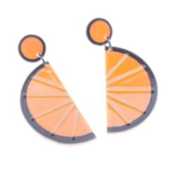 E4404-6170 Orange Margarita Earrings