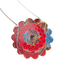 N3887-1001 Dahlia Pinnata Necklace